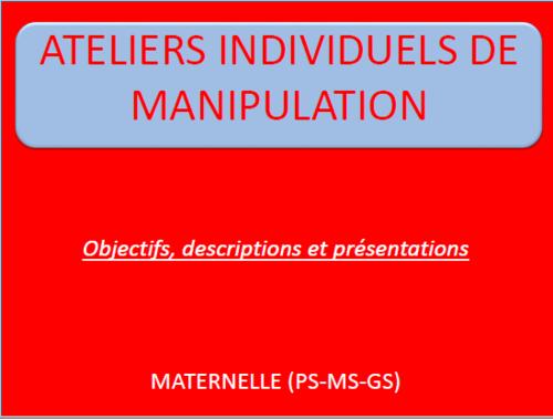 Ateliers individuels de manipulation