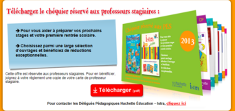 Chéquier réduction PES