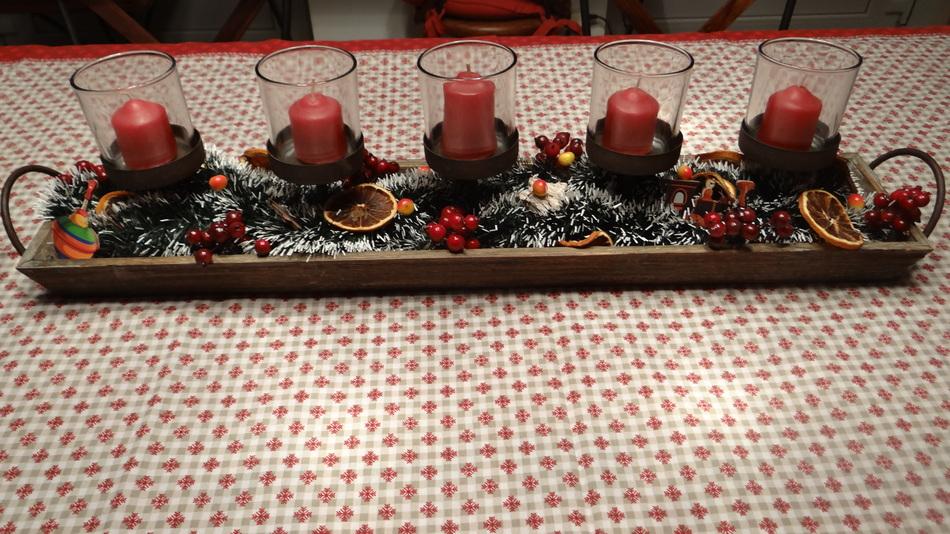 Aujourd'hui Notre Décoration pour la Table de Noël