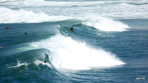 Les vagues à Biarritz.