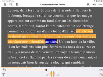 Loisirs audio : lire un epub ou livre au format Daizy sur tablette ou smartphone