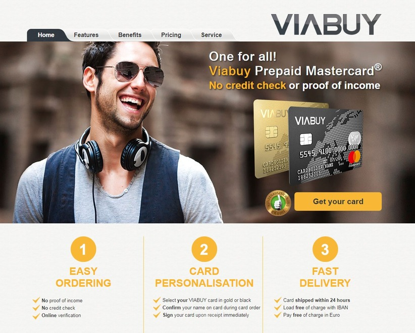 VIABUY Your Prepaid Credit Card With IBAN - THE GREAT BUSINESS
