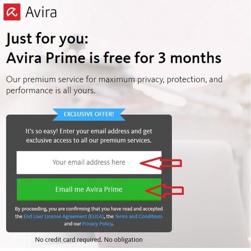 Avira Prime - Licence 6 mois gratuits