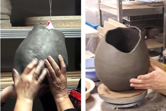 Céramique et ballon de baudruche