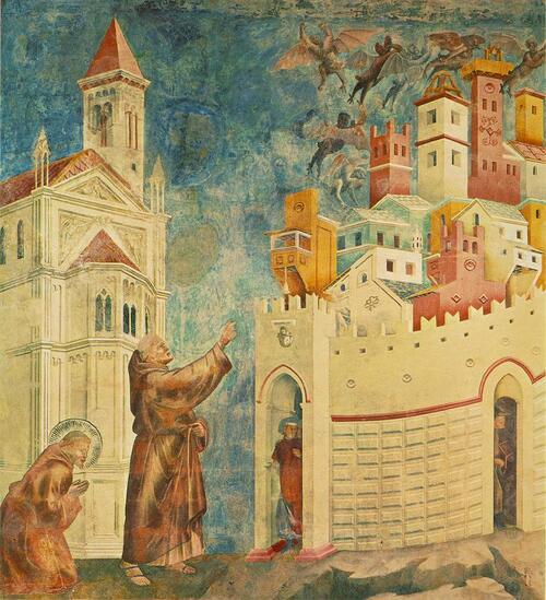 La ville d'Arezzo et ses monuments par Giotto