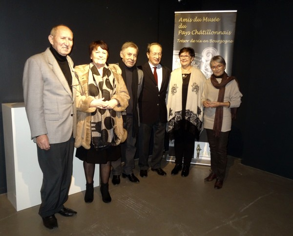 Les Amis du Musée du pays Châtillonnais-Trésor de Vix ont offert de superbes moulages au Musée du Pays Châtillonnais