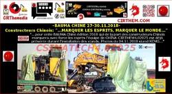 BAUMA CHINE 2018: communication limitée sur les secteurs francophones.
