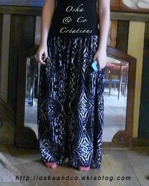 Transformer une jupe longue en pantalon palazzo (ou jupe culotte)