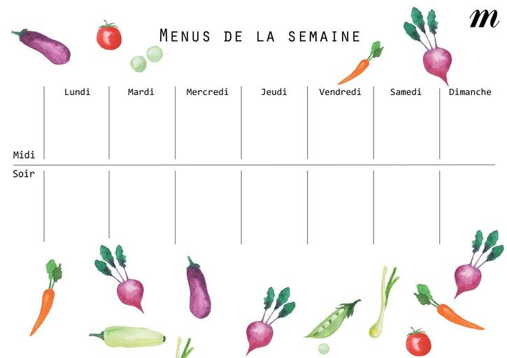 Alimentation 3:  Les bons conseils pour composer ses menus de la semaine