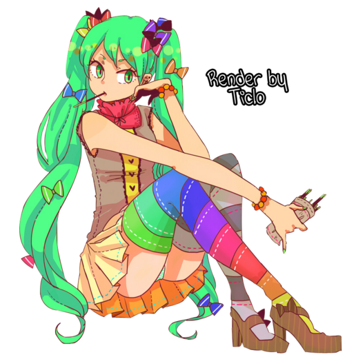 Render 9 - Manga girl