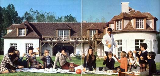 Octobre 1973 : Sheila et Ringo reçoivent à Feucherolles.