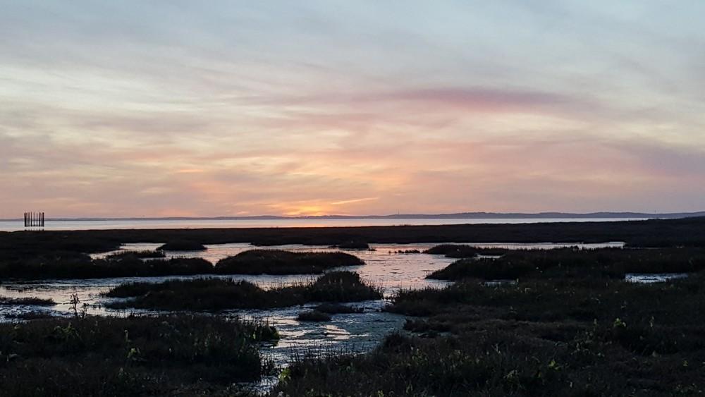 Coucher de soleil du 4 décembre 2018, à Andernos-les-bains...