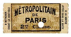 L'histoire du ticket de métro parisien carnet 2ème classe - 1903
