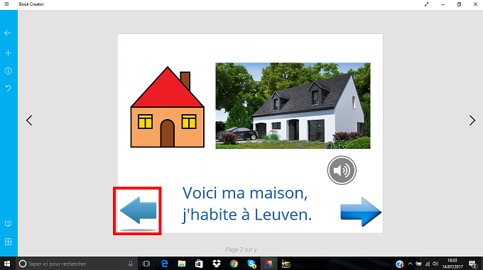 Book Creator : adapter la version Windows en mode défilement