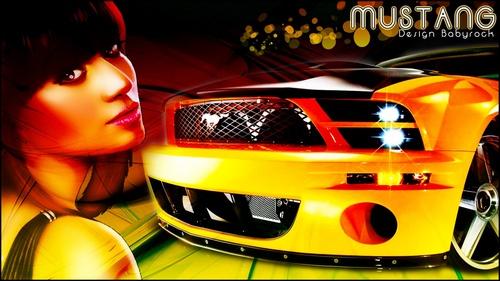 fond d'écran Mustang