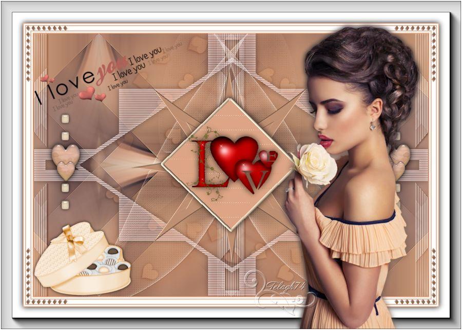 Variante St-Valentin I LOVE YOU