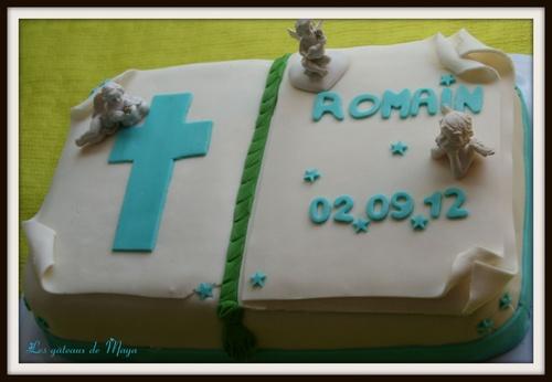 Le gâteau de bâptème de Romain