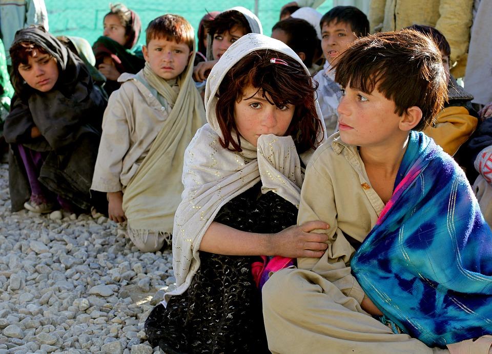 Les Enfants, Afghanistan, Afghani, Fille, Garçon