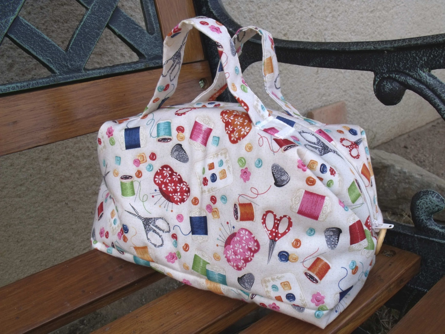 Sac valisette couture malalapatch for De couture en tissus