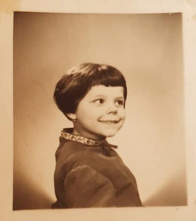 Cheveux court a ma sortie de préventorium - 1958