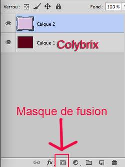 Tuto masque couleurs et transparence