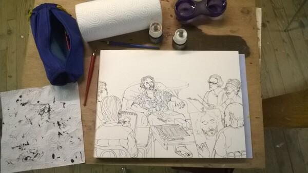 Mercredi - Scène d'atelier (66 - 1) : L'endormi
