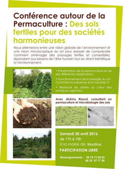 *conférence permaculture à Montfroc