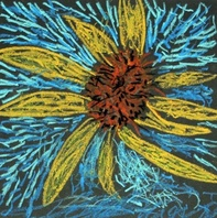 Texture- Van Gogh Oil Pastel Sunflowers