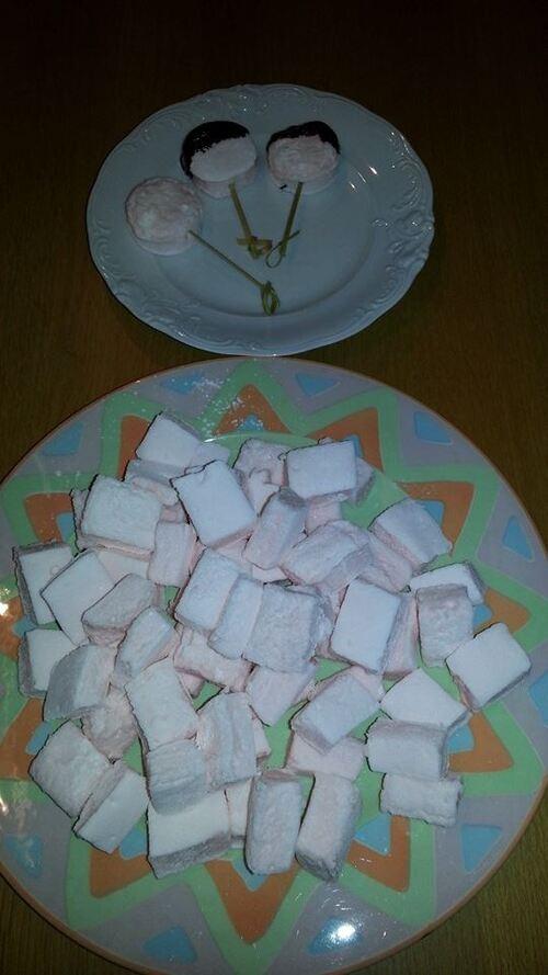 Marshmallows roses goût fraises