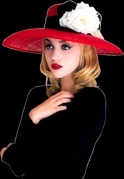 Tubes femmes chapeaux création 10