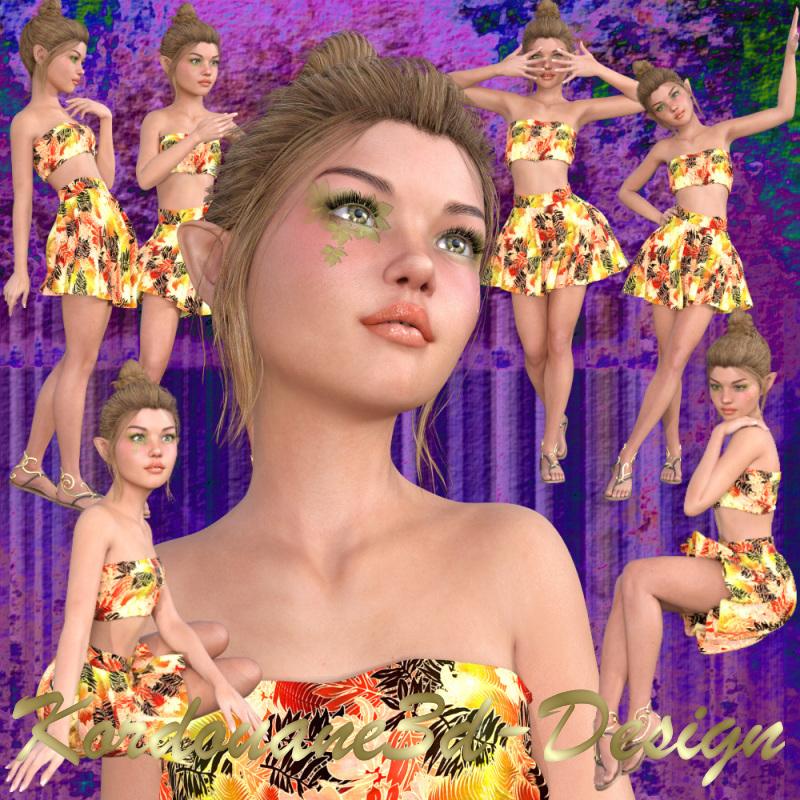 Daphne : Tube fille elfe (image-poser)