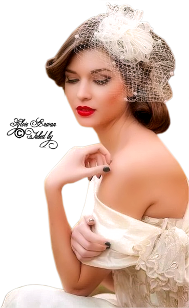 Tubes femmes chapeaux création 16