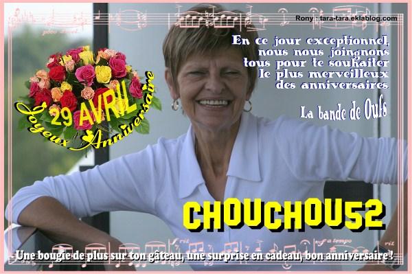 Joyeux Anniversaire Martine La Chouchou 52