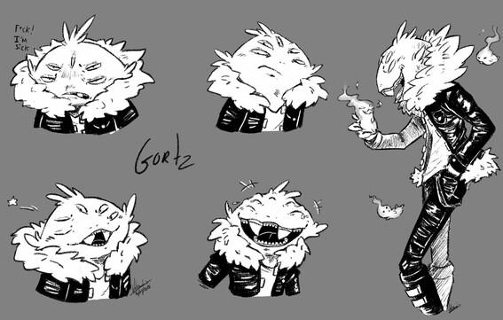 Gortz - Character design