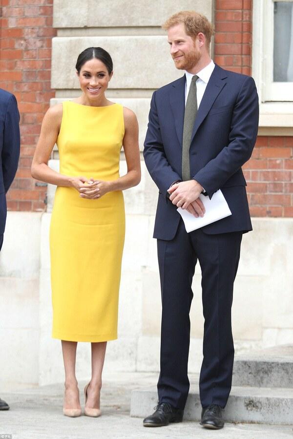 Harry et Meghan à une réception à Londres le 5 juillet