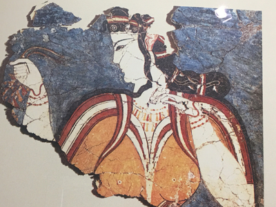 Mycenes - reste de fresque