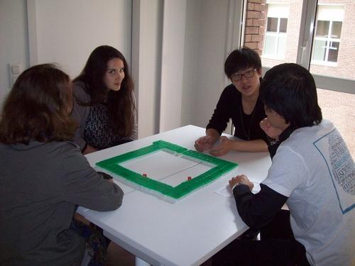 Atelier mah-jong, animé par Kévin et Loïs