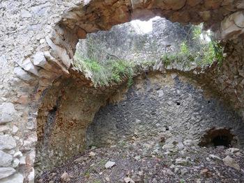 Une cave qui a été voûtée