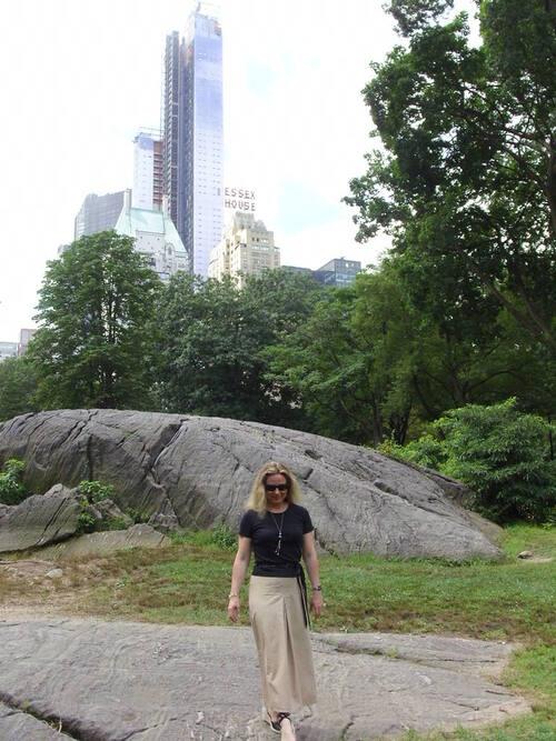 Sautoir en perles de verre dans Central Park