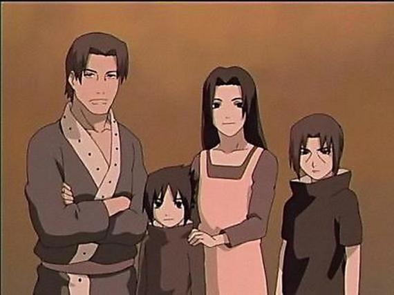 La famille Uchiwa avant le drame