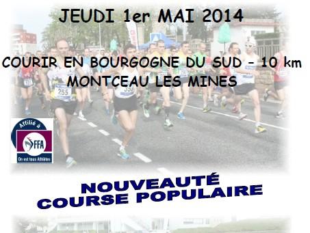 10 km de montceau 1 mai 2014