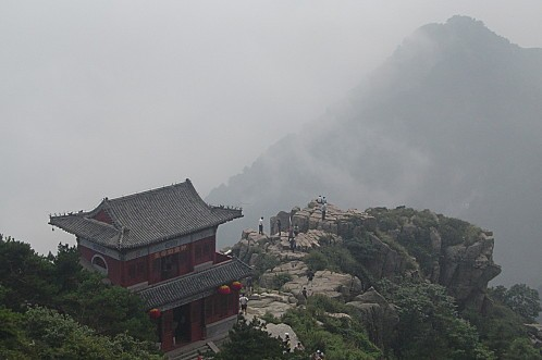 Taishan - cliff and peak