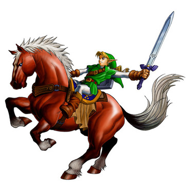 Link rides Epona into battle - <i>Ocarina of Time 3D</i>
