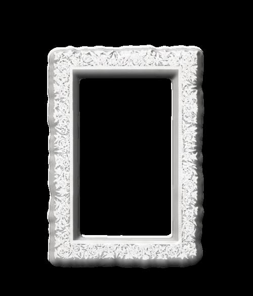 joli cadre  blanc effet glass