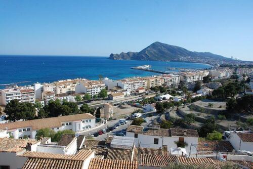 la vue sur la mer depuis la vieille ville