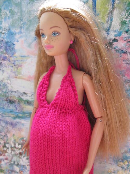 Robe de maternité pour barbie enceinte
