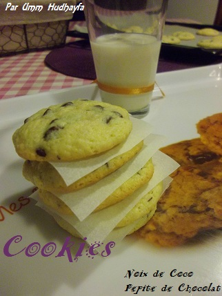 Cookies Noix de Coco Pépite de Chocolat