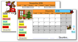 MAJ Calendriers TBI Novembre Décembre