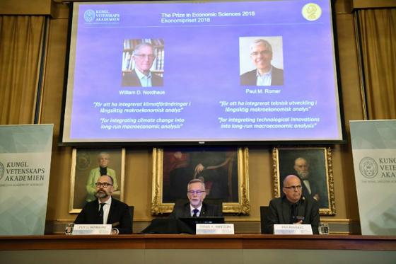 Prix Nobel d economie 2018 HenrikMontgomery TTNewsAgency AFP