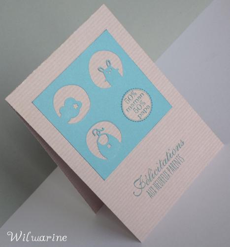 carte naissance bleu et kraft